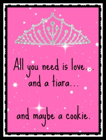all you need is love . tiara. cookie  border