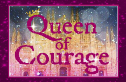 Queen of Courage border logo