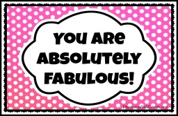 you are absolutely fabulous
