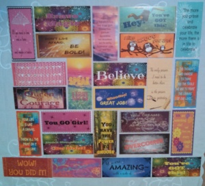 23 cards collage