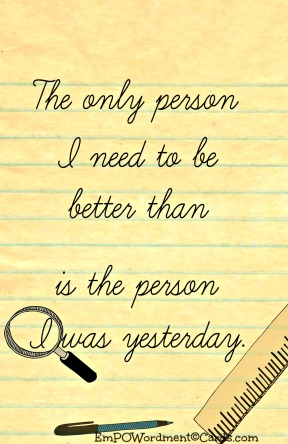 The only person